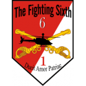 1st Squadron 6th Cavalry Fighting Sixth Decal