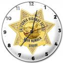 California Highway Patrol (Sergeant) Clock with your Badge Number Added.
