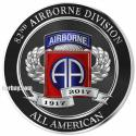 "82ND AIRBORNE DIVISION 100TH ANNIVERSARY 14 x 14"" Metal Sign 1917-2017"