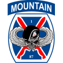 10th Mountain 87th Infantry Regiment Decal