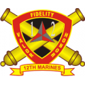 12th Marine Regiment  Decal
