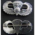 WWII Paratroop Sterling Silver Badge USMC Officer pin back