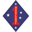 1st Marine Division Guadalcanal Decal