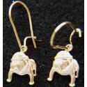 USMC Bulldog Earrings sterling on earwires