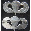 WWII Paratrooper Badge Sterling Silver pin back