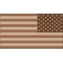 50 Star Flag Desert Camo (Reversed) Decal