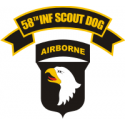 58th Infantry Scout Dog Decal