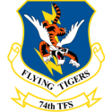 74th Tactical Fighter Squadron Decal  Flying Tigers