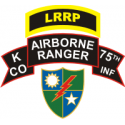LRRP 75th Ranger Regiment K Company Decal