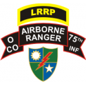 LRRP 75th Ranger Regiment O Company Decal