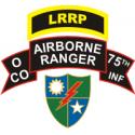 LRRP 75th Ranger Regiment O Company Decal