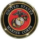 United States Marine Corps Eagle Globe and Anchor Auto Chrome Emblem