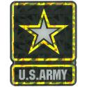 US Army Star Reflective Domed Decal
