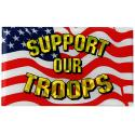 Support Our Troops Reflective Domed Decal