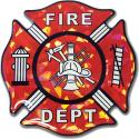 Fire Fighter Logo Reflective Domed Decal