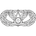 AF Civil Engineer Badge (BW)  Decal