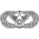 AF Civil Engineer Badge (Silver)   Decal