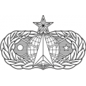 AF Space and Missile Badge (BW)  Decal