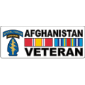 Special Forces Afghanistan Veteran (In White Box) Decal