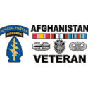 Special Forces Afghanistan Veteran 2  Decal