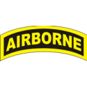 Airborne Tab Decal   Gold on Black