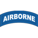 Airborne Tab Decal  (Blue On White)