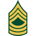 Army E-8 MSG Master Sergeant Decal