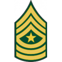 Army E-9 SGM Sergeant Major
