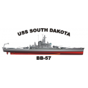 USS Alabama (BB-60) Decal