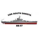 USS Alabama (BB-60) Decal