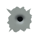 .45 ACP Bullet Hole Decal