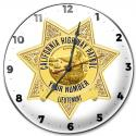 California Highway Patrol (Lieutenant) Clock with your Badge Number Added.
