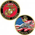 USMC Challenge Coin with Fighter Jet.