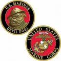 USMC Challenge Coin Devil Dog