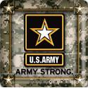 US Army Star 4 Inch Coasters 8 Pack