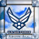 Air Force Hap Wings 4 Inch Coasters 8 Pack