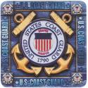 Coast Guard Crest  4 Inch Coasters 8 Pack