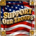 Support Our Troops 4 Inch Coasters 8 Pack