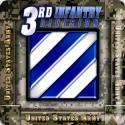 3rd Infantry Division 4 Inch Coasters 6 Pack
