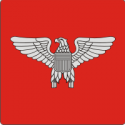 O-6 Colonel Silhouette (Red) Decal