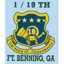 2nd Battalion 39th Infantry 3 x 4 inch Decal