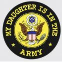 My Daughter is in the Army with Crest Logo Decal