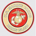 US Marine Corps Parris Island with Eagle Globe and Anchor Logo Decal