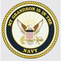 My Grandson is in the Navy with Crest Logo Decal