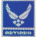 US Air Force Retired with Wing Logo Decal