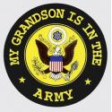 My Grandson is in the Army with Crest Logo Decal