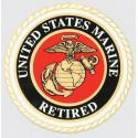 United States Marine Corps Retired with Eagle Globe and Anchor Logo Decal