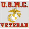 USMC Veteran with Eagle Globe and Anchor Logo Decal