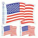 American Flag 3 Piece Prism Decals