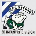 Army 3rd  Infantry Division Ft Stewart with Bulldog Decal